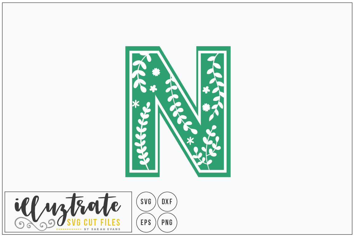 Download Free Letter N Svg Alphabet Dxf Cut Files Graphic By Illuztrate for Cricut Explore, Silhouette and other cutting machines.
