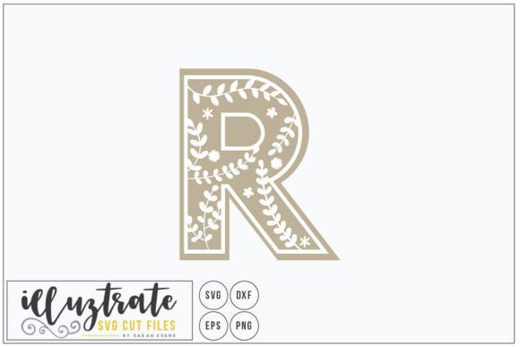 Print on Demand: Letter R SVG Alphabet - DXF Cut Files Graphic Crafts By illuztrate - Image 1