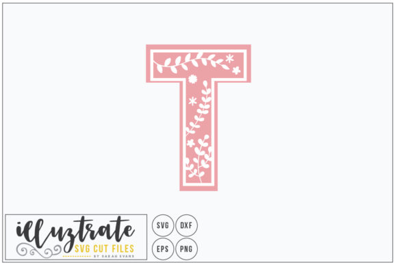 Download Free Letter T Alphabet Cut Files Graphic By Illuztrate Creative for Cricut Explore, Silhouette and other cutting machines.