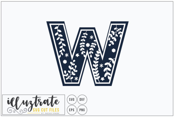 Letter W Alphabet Cut Files Graphic By Illuztrate Creative