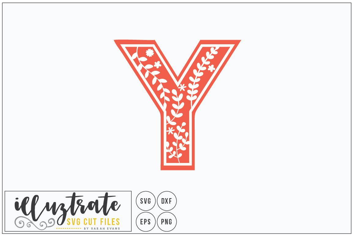 Download Free Letter Y Alphabet Cut Files Graphic By Illuztrate Creative for Cricut Explore, Silhouette and other cutting machines.