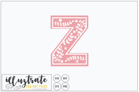 Print on Demand: Letter Z SVG Alphabet - DXF Cut Files Graphic Crafts By illuztrate