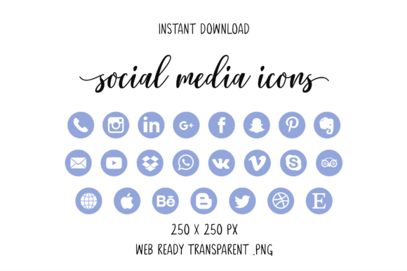 Light Purple Social Media Icons Graphic By The Branding Place
