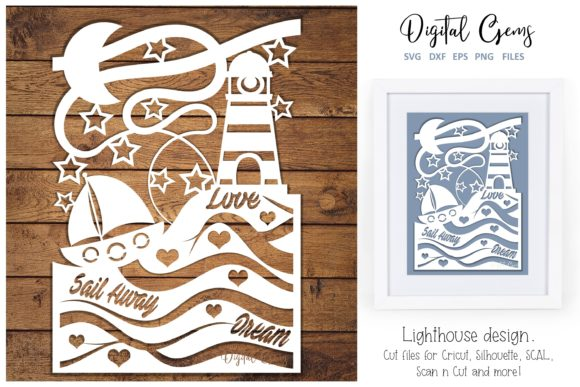Download Free Lighthouse Paper Cut Design Graphic By Digital Gems Creative SVG Cut Files