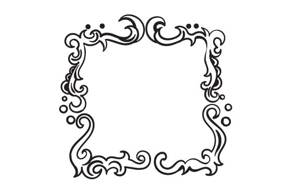 Download Free Line Art Doodle Retro Border Svg Cut File By Creative Fabrica for Cricut Explore, Silhouette and other cutting machines.