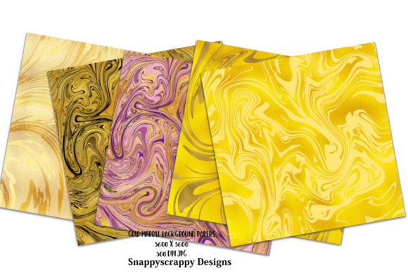 Liquid Gold Marble Background Papers Graphic Backgrounds By Snappyscrappy - Image 2