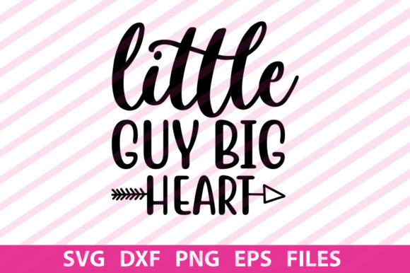 Print on Demand: Little Guy Big Heart Graphic Print Templates By svgbundle.net