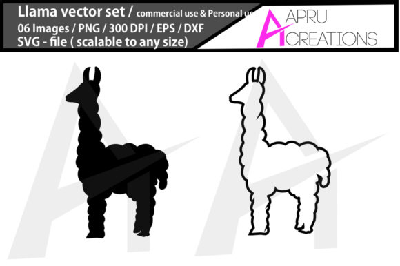 Download Free Llama Graphic By Aparnastjp Creative Fabrica for Cricut Explore, Silhouette and other cutting machines.
