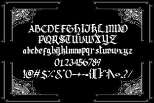 Print on Demand: Lodeh Blackletter Font By dmletter31 4