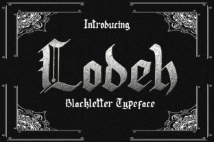 Lodeh Font By dmletter31