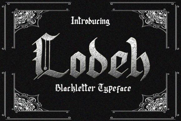 Print on Demand: Lodeh Blackletter Font By dmletter31