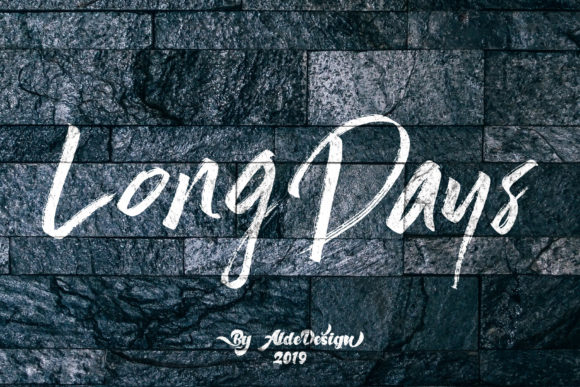 Long Days Script & Handwritten Font By aldedesign