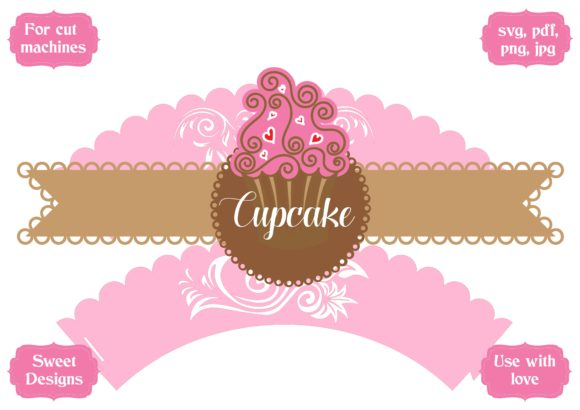 Download Free Lotus Flower Wrapper For Cupcakes Graphic By Jgalluccio SVG Cut Files