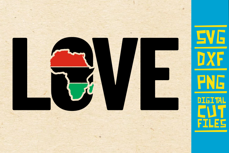 Download Free Love Africa Black Girl Magic Graphic By Svgyeahyouknowme for Cricut Explore, Silhouette and other cutting machines.
