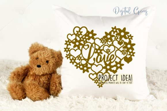 Love Heart Paper Cut Design Graphic Crafts By Digital Gems - Image 3