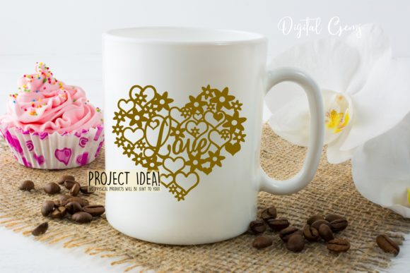 Love Heart Paper Cut Design Graphic Crafts By Digital Gems - Image 4
