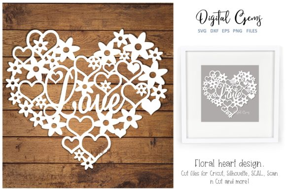 Love Heart Paper Cut Design Graphic By Digital Gems Creative