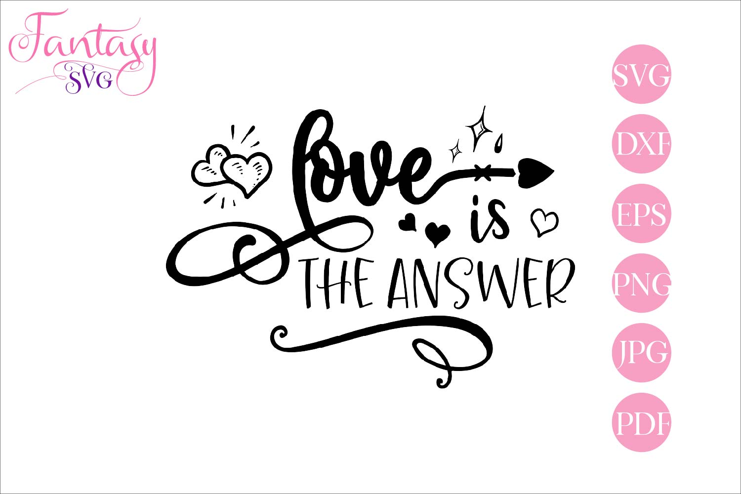 Download Free Love Is The Answer Cut Files Graphic By Fantasy Svg Creative for Cricut Explore, Silhouette and other cutting machines.