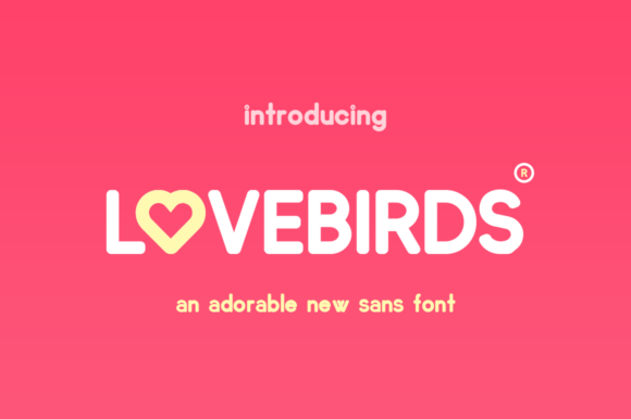 Print on Demand: Lovebirds Sans Serif Font By Salt & Pepper Designs