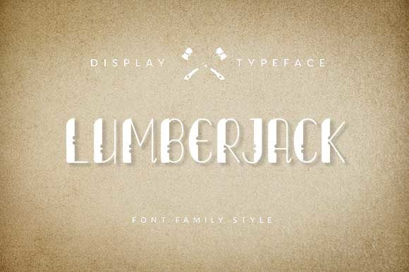 Print on Demand: Lumberjack Display Font By ShowUp! Typefoundry