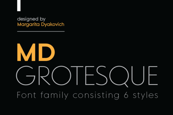 Print on Demand: MD Grotesque Sans Serif Font By Margarita Dyakovich