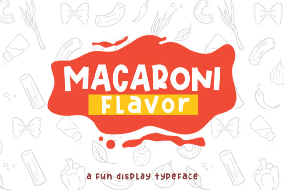 Print on Demand: Macaroni Flavor Display Font By si.jalembe