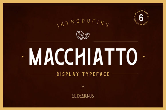 Print on Demand: Macchiato Display Font By Slidesignus