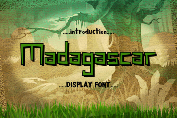 Print on Demand: Madagascar Display Font By InDhika
