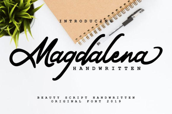 Print on Demand: Magdalena Script & Handwritten Font By Vunira