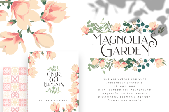 Magnolias Garden Graphic Illustrations By BilberryCreate - Image 1