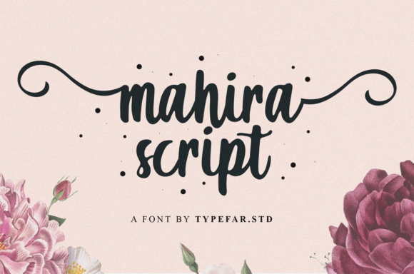 Print on Demand: Mahira Script & Handwritten Font By Typefar