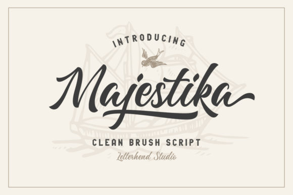 Print on Demand: Majestika Script & Handwritten Font By letterhend