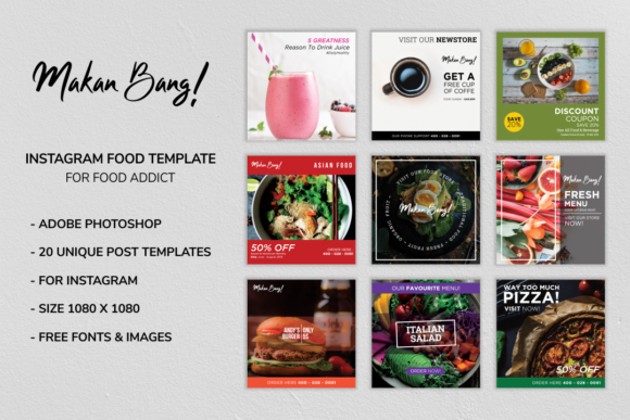 Download Free Makan Bang Instagram Food Template Graphic By Menk Studio for Cricut Explore, Silhouette and other cutting machines.