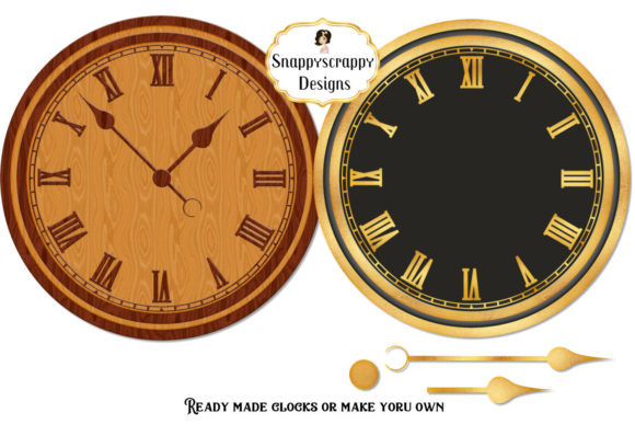 Make Your Own Clocks Clipart Graphic Crafts By Snappyscrappy - Image 2