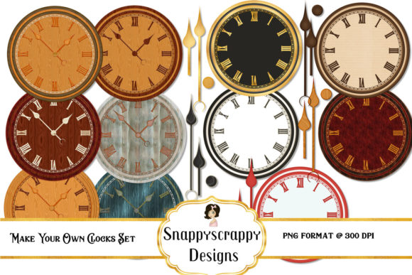 Make Your Own Clocks Clipart Graphic By Snappyscrappy