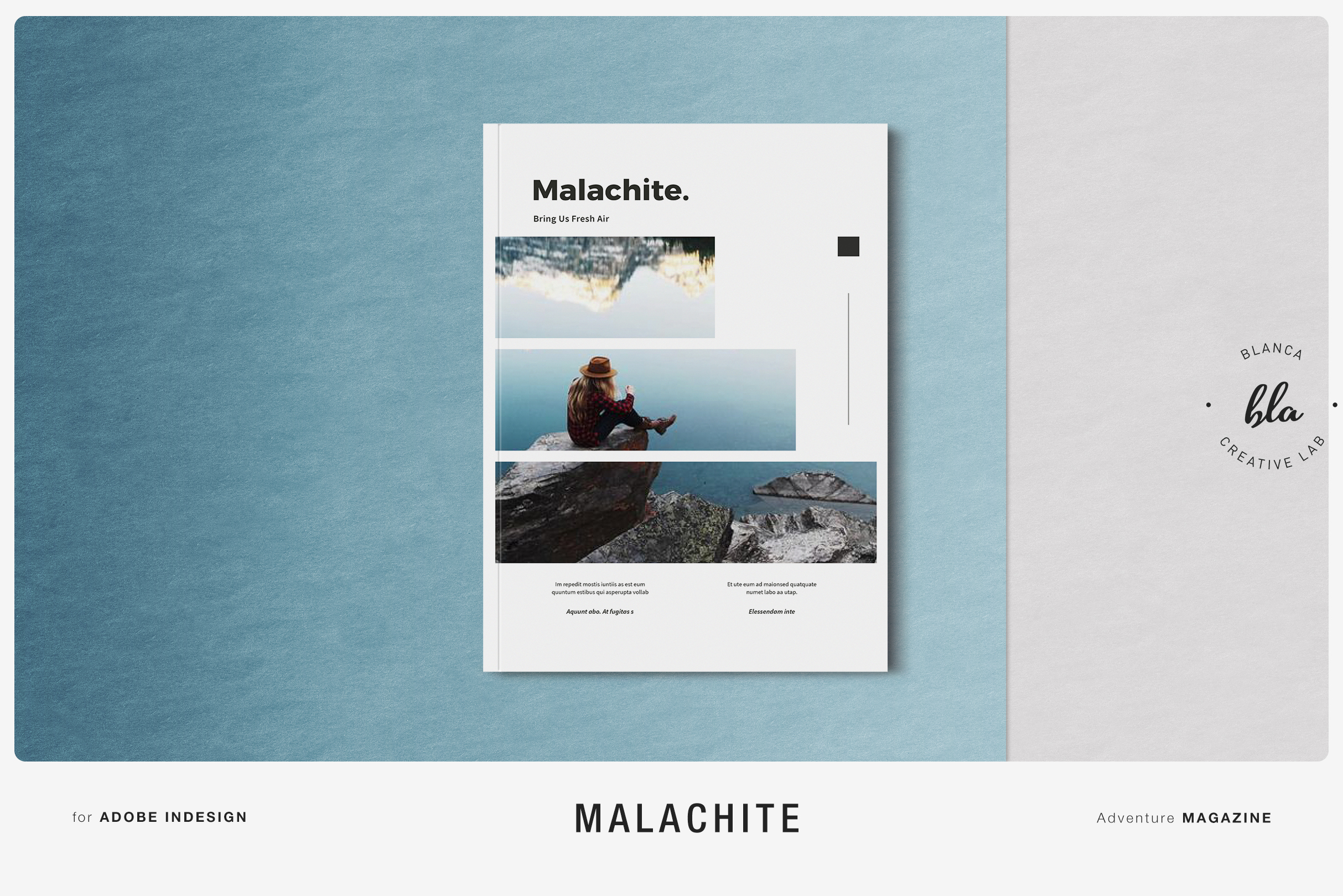 Download Free Malachite Magazine Template Graphic By Blancalab Studio for Cricut Explore, Silhouette and other cutting machines.