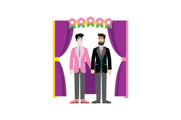 Download Free Male Male At Wedding Alter Svg Cut File By Creative Fabrica for Cricut Explore, Silhouette and other cutting machines.