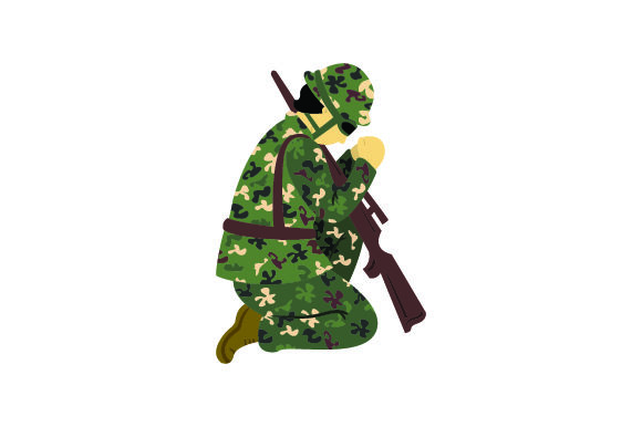 Download Free Male Soldier Praying Svg Cut File By Creative Fabrica Crafts for Cricut Explore, Silhouette and other cutting machines.