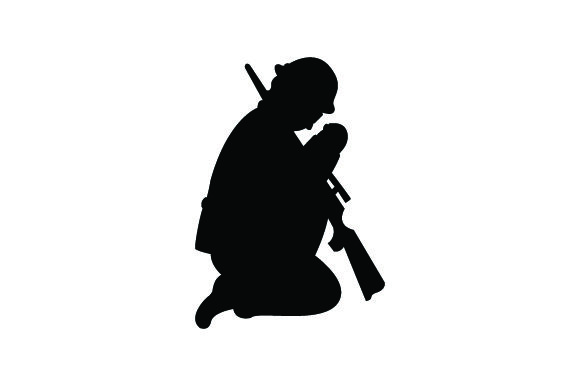 Male Soldier Praying Military Craft Cut File By Creative Fabrica Crafts - Image 2