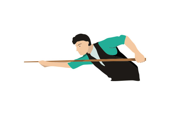 Male Pool Player Taking Shot Sports Craft Cut File By Creative Fabrica Crafts