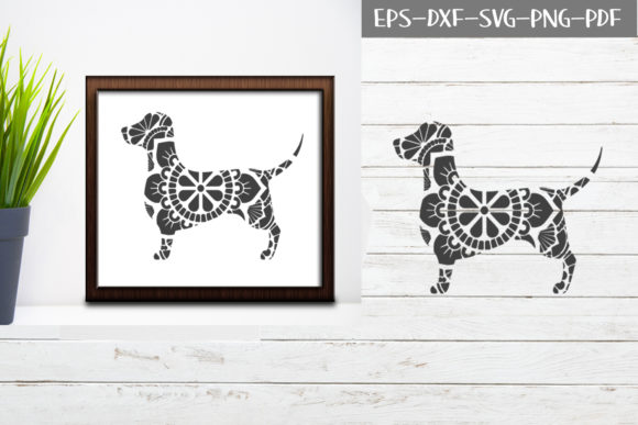 Download Free Mandala Dog Graphic By Scmdesign Creative Fabrica for Cricut Explore, Silhouette and other cutting machines.