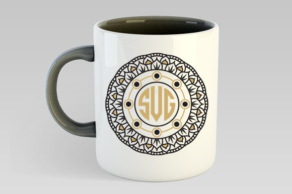 Download Free Mandala Monogram Frames Svg Graphic By Gleenart Graphic Design for Cricut Explore, Silhouette and other cutting machines.