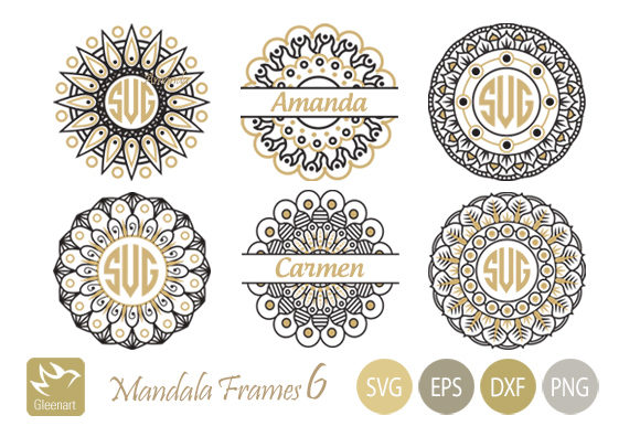Mandala Monogram Frames  Graphic Illustrations By Gleenart Graphic Design