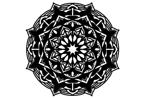 Download Free Mandala Vector Art Pattern 1183 Graphic By Redsugardesign for Cricut Explore, Silhouette and other cutting machines.