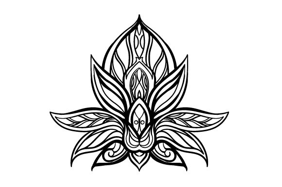 Download Free Mandala Lotus Flower Svg Cut File By Creative Fabrica Crafts for Cricut Explore, Silhouette and other cutting machines.