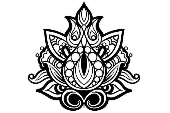 Mandala Lotus Flower Mandalas Craft Cut File By Creative Fabrica Crafts - Image 1