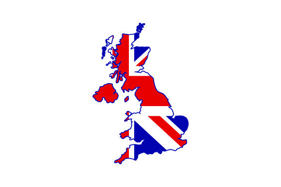 Download Free Map Of Uk With British Flag Svg Cut File By Creative Fabrica for Cricut Explore, Silhouette and other cutting machines.