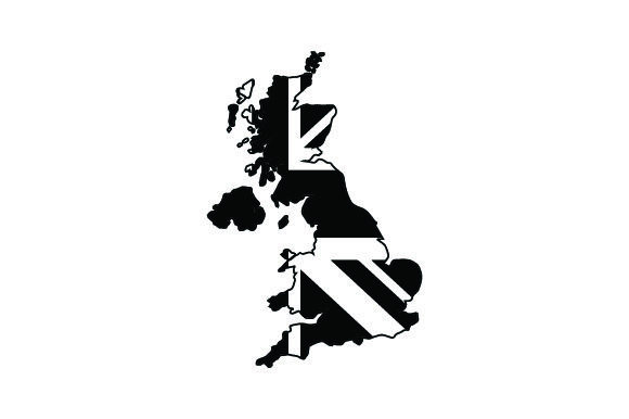 Download Free Map Of Uk With British Flag Archivos De Corte Svg Por Creative for Cricut Explore, Silhouette and other cutting machines.