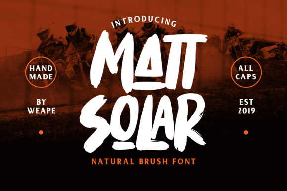 Print on Demand: Mattsolar Display Font By Weape Design