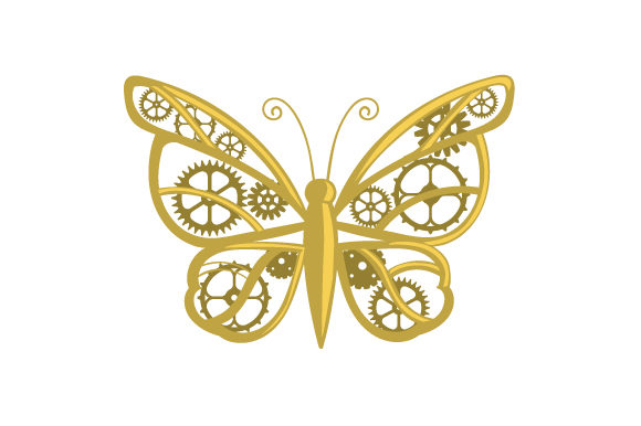 Mechanical Butterfly Craft Design By Creative Fabrica Crafts Image 1